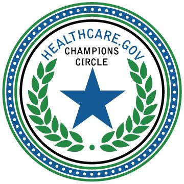 healthcare champions circle badge